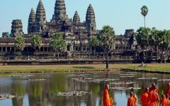Buddhist Monks In Front Of The Angkor Wat 3 240x150