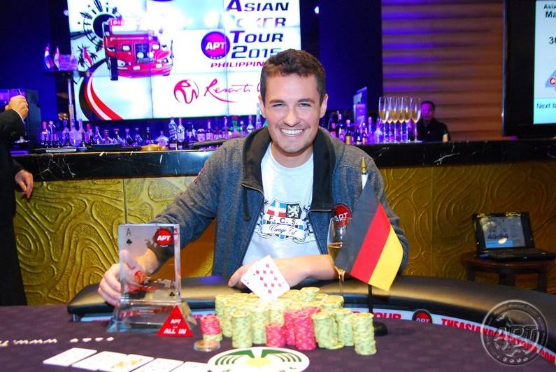 German pro Julius Malzanini defeats Jojo Tech to claim the win in APT Philippines Main Event