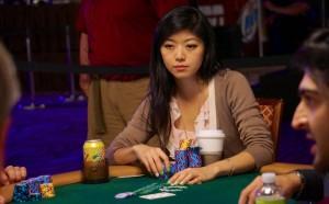 hot asian poker player