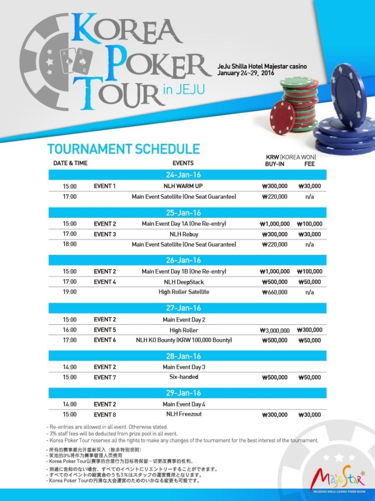Korea Poker Tour Update