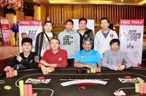 Singapore's Jeremy Giam Jian Hui is the top dog the Finale 8 of the APT Finale Main Event