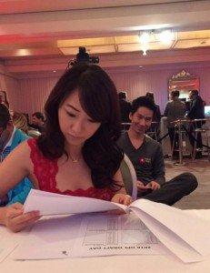 Global Poker League: Weiyi Zhang, Raiden Kan, Dong Guo and Bryan Huang picked by Celina Lin