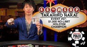 Second Bracelet for Japan as Takahiro Nakai Wins Event 57