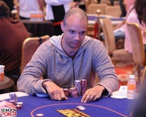 Top pros at the inaugural Triton Super High Roller Series,  Ivey leads the day