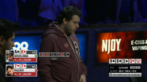 Sam Razavi finished 4th in the WSOP $3k NL Hold'em