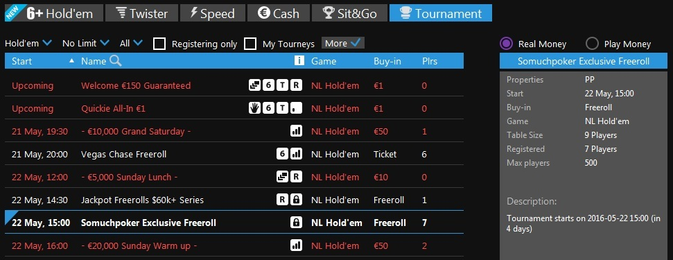 Freeroll Betfair