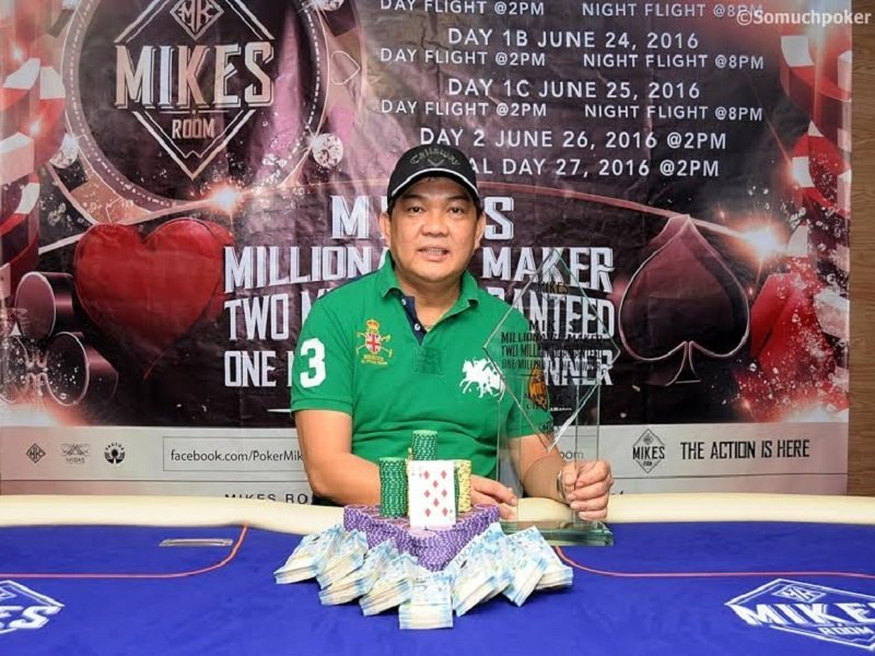 Boyet Drilon tops record field in MIKES ROOM's 2M for 2K tournament