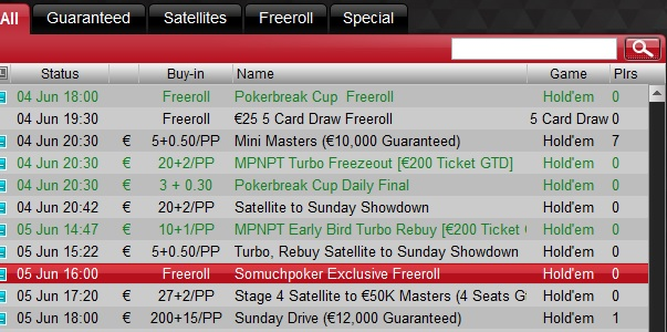SMP Freeroll