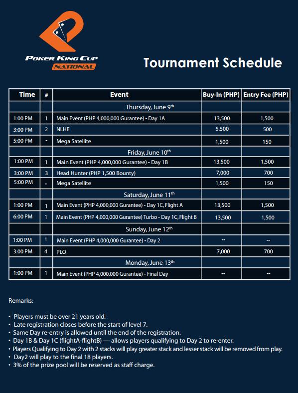 Schedule-PKC-Cup Schedule