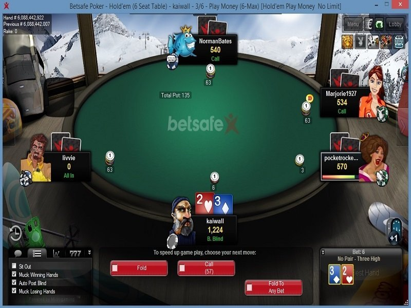 Poker online results database