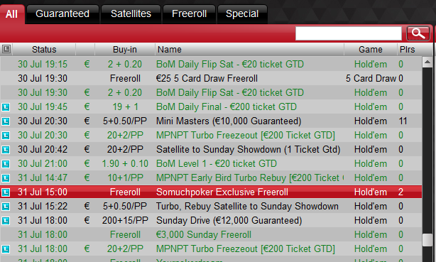 Betsafe freeroll july