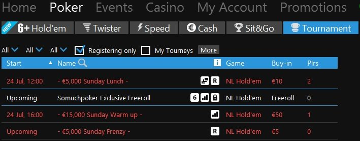 Freeroll Betfair 227