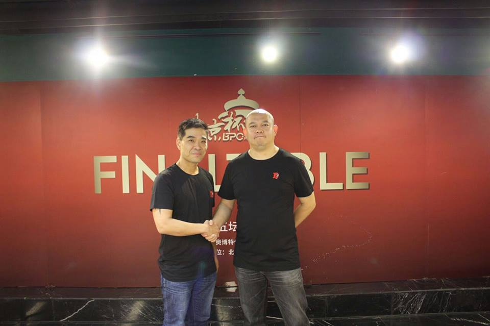 James Kim and Beijing Poker Club CEO