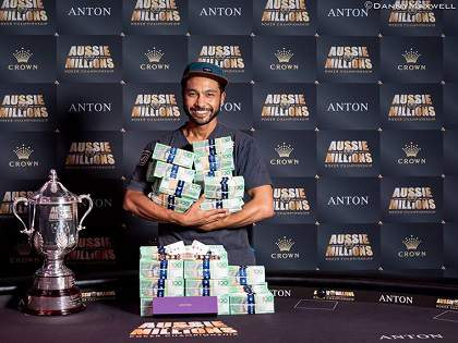 Satellite Winner Shurane Vijayaram Wins Aussie Millions Main Event