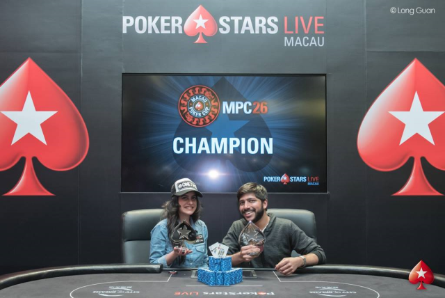 Raghav Bansal and Nikita Luther (Photo Pokerstars)