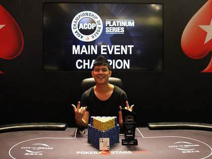 Macau Briefs: Alex Lee Xiang Wei wins the ACOP Platinum Main Event