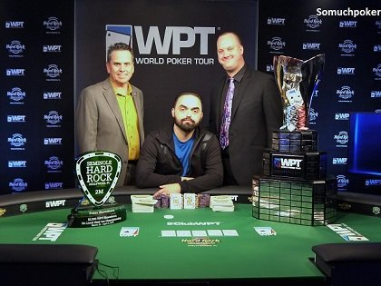 Tony Sinishtaj takes down the Seminole Hard Rock Poker Showdown