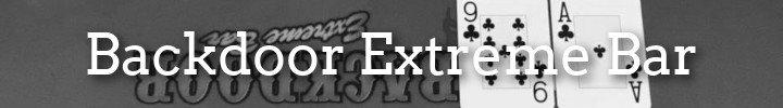 Backdoor Extreme Bar Poker