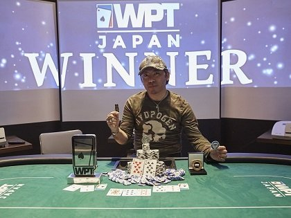 Eiji Kimura wins the first-ever WPT Japan