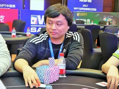 WPT Sanya Main Event Final Table set, Qian Zhi Qiang  chip leader