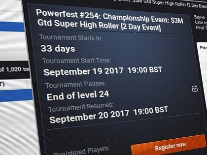 Partypoker Reveals Packed Online MTT Schedule for 2018