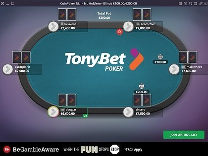Exclusive Private Freeroll on Tonybet: €100 prize pool, No deposit needed