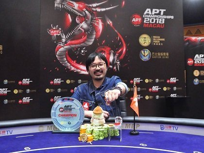 APT Macau Championships 2018: Sparrow Park Yu Cheung wins the Championships Event, Hung Sheng Lin  APT Player of the Series
