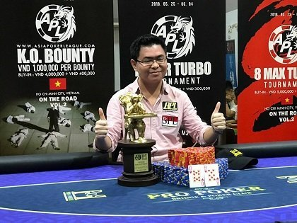 Lew Yin How wins the record-breaking Asia Poker League Vietnam Main Event