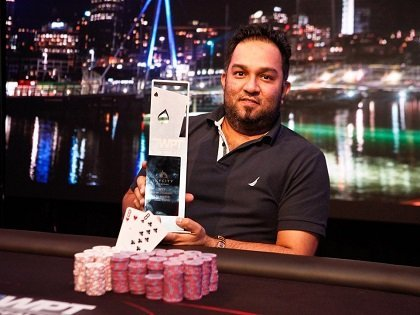 Nauv Kashyap wins the inaugural record-breaking WPT New Zealand Main Event