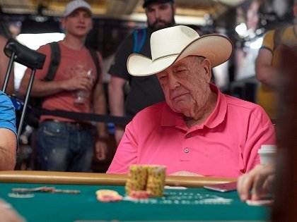 """""""Retired"""" Doyle Brunson crushes Bobby's Room, shows off new Cadillac"""
