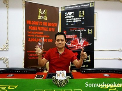 WPT Ho Chi Minh Cup draws 207; Nguyen Dang Toan wins the Welcome Event