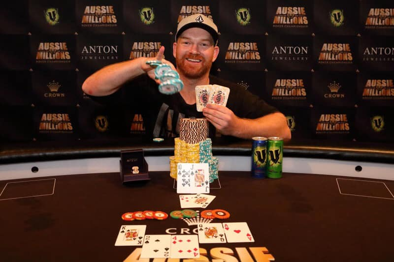 First winners of Aussie Millions 2019