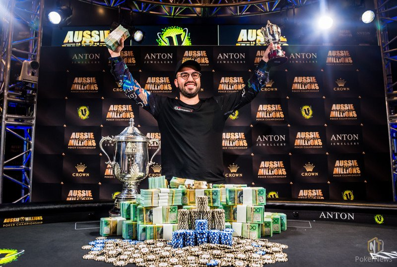 Bryn Kenney wins the Aussie Millions Main Event for AU$ 1,272,598