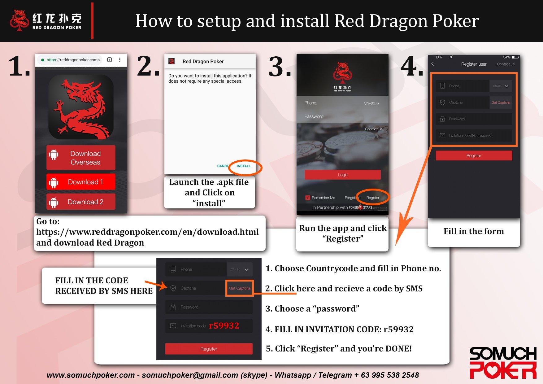 Red Dragon Poker App Install