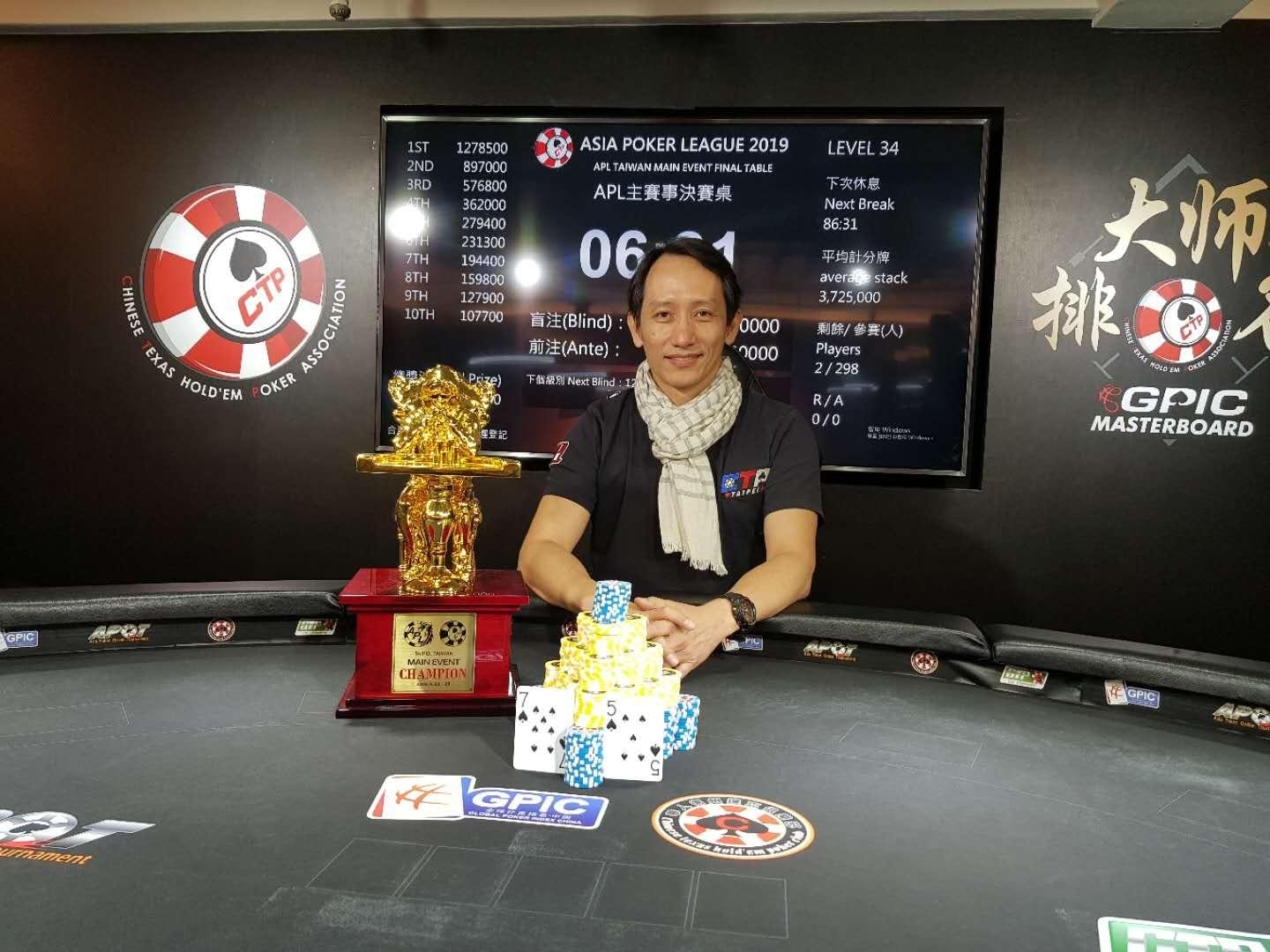 Chi Jen Chen wins APL Taiwan Main Event for NT$ 1,278,500, Steve Yea takes down the High Roller