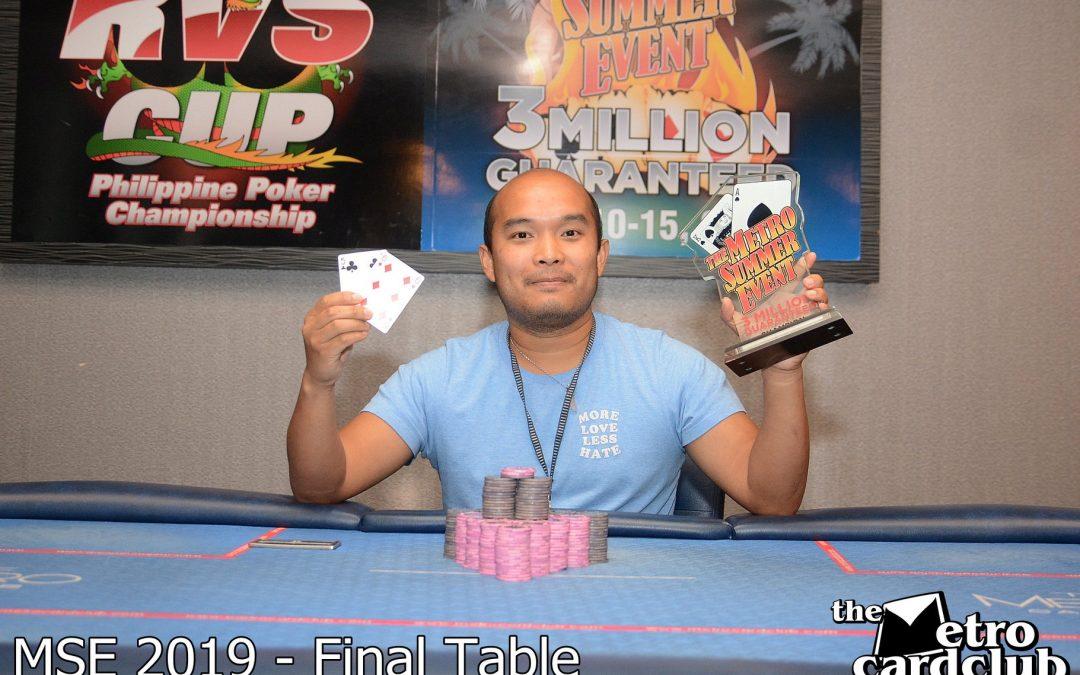 Kai Paulsen takes down the Metro Card Club MSE Main Event