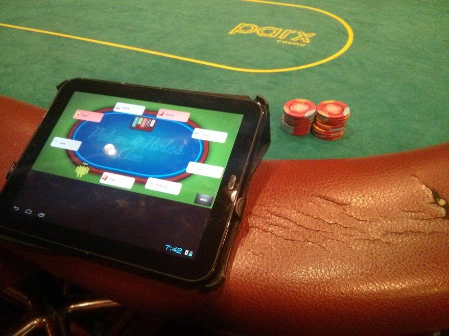 Brunswick folding poker table
