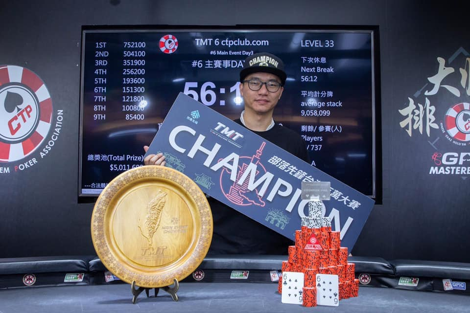 Zong Chi He wins Taiwan Millions Tournament Main Event