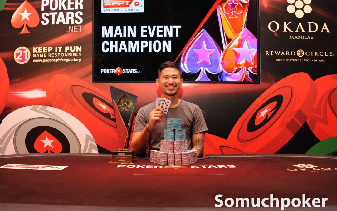 Florencio Campomanes clinches the APPT Manila 2019 Main Event