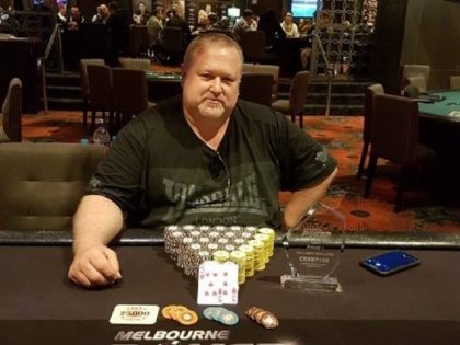 NLH Accumulator champion dean McDowell - Photo by Melbourne Poker Championship