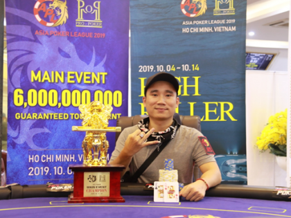 APL HCMC: Terry Nguyen claims Main Event title for VND1.2 Billion