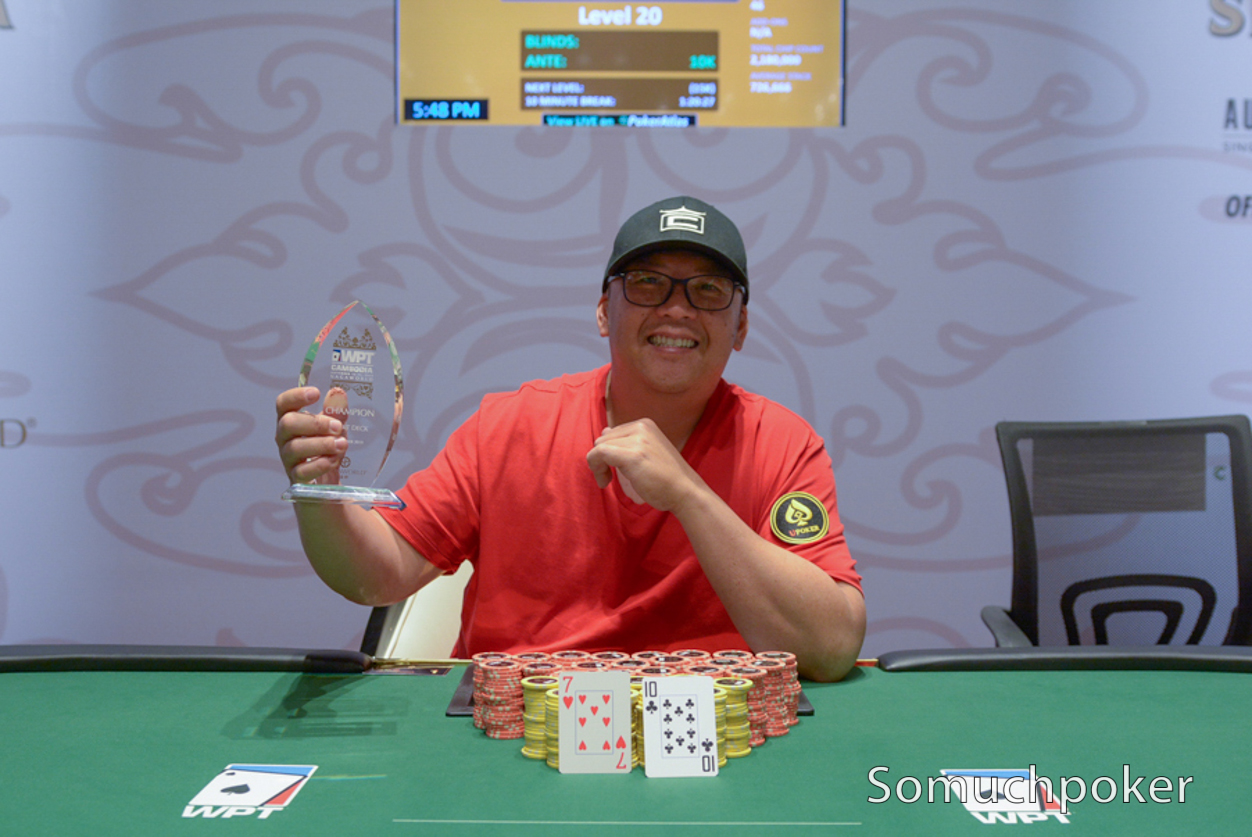 WPT Cambodia: Pierre Yves Faivre surges for Freezeout win; Short Deck goes to Duy Ho