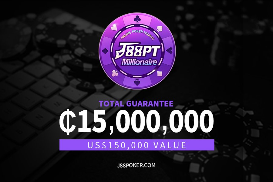 J88poker kicks off high GTD online series – J88PT Millionaire