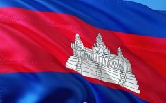 International Flag Cambodia 240x150