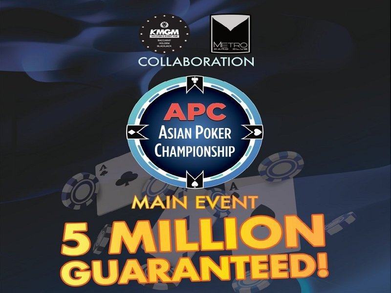 Metro Card Club hosts Asian Poker Championship Php 5 Million guaranteed this weekend
