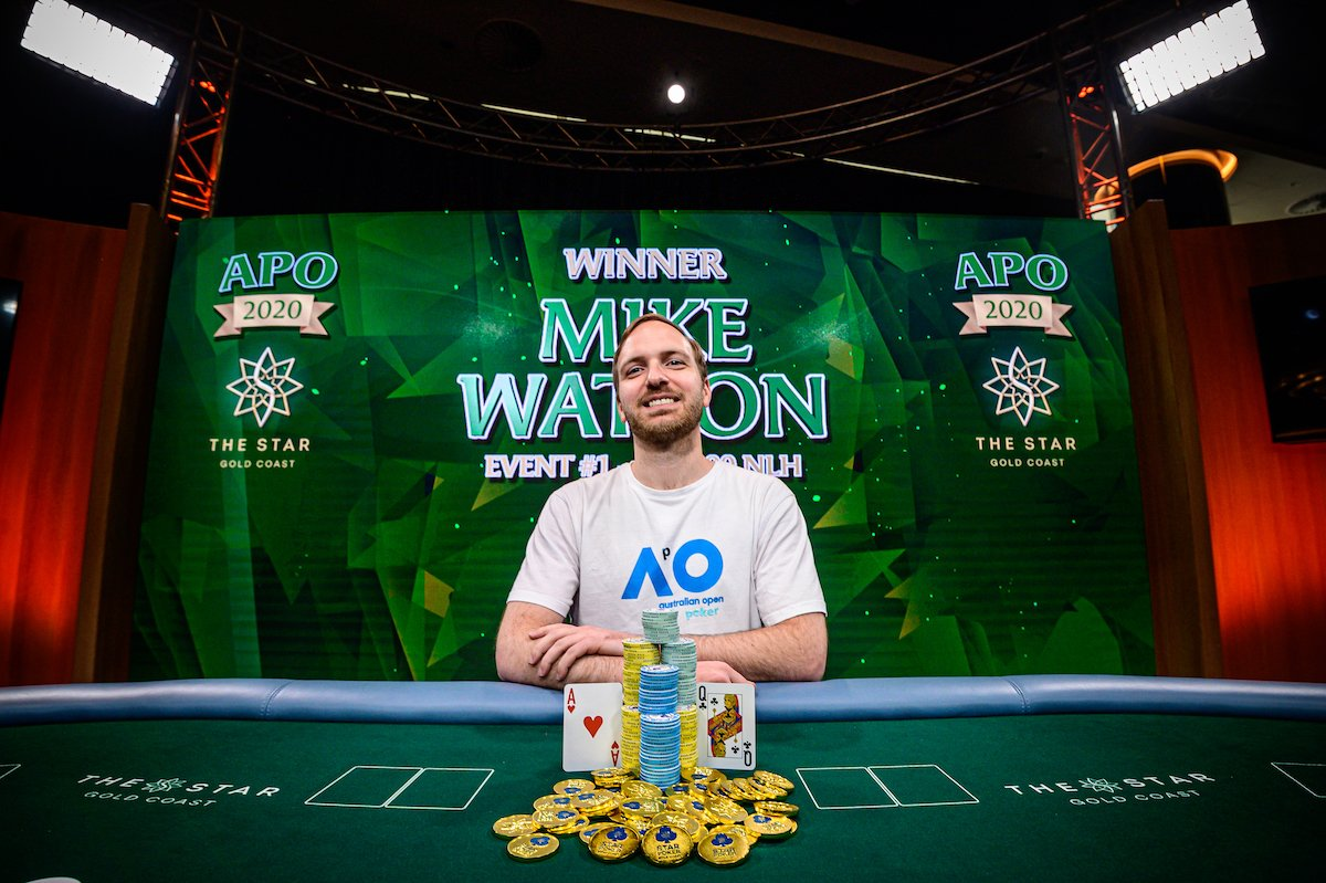 Inaugural Australian Poker Open begins; Canadian pro Mike Watson wins opening event for A$177,000