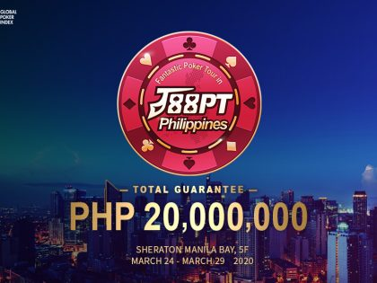 J88PT Philippines: Festival's guarantee boosted to PHP20M; Main event Buy-in reduced to PHP50,000