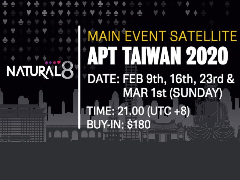 How to qualify for APT Taiwan 2020 via Natural8?