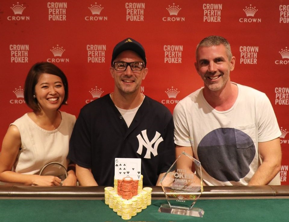 Crown Perth 2020 Perth Poker Champs awards Dale Marsland as Main Event Champion