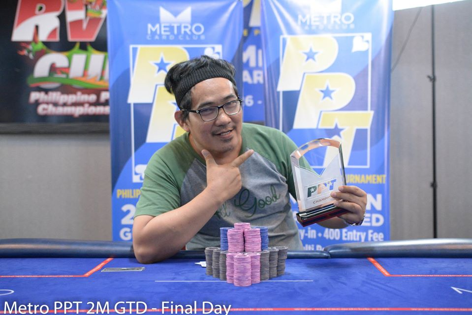Rasid Paitao captures PPT Main Event victory at the Metro Card Club